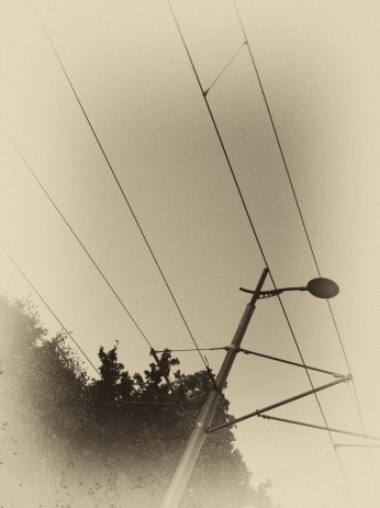 ...power lines to support the trams line many streets
