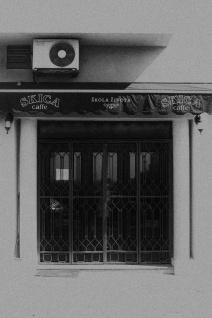 cafe door...