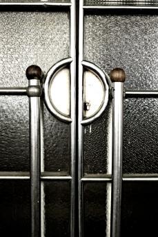 glass and metal door