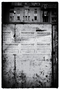 text and wall