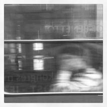 thinking on the tram
