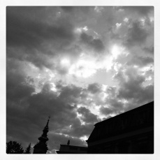 cathedral and clouds