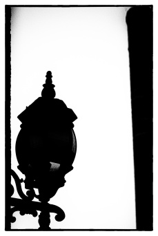 lamp and smokestack