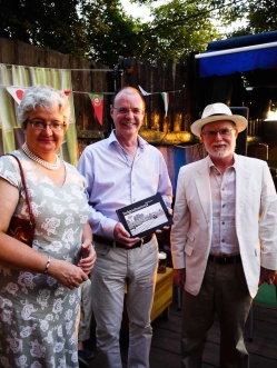 HM Ambassador Denis Keefe, Mrs Kate Keefe and Andy